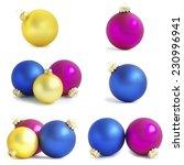 christmas balls    Shutterstock . vector #230996941