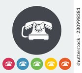 vintage phone. single flat icon ... | Shutterstock . vector #230998381