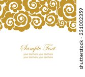 invitation card with lace... | Shutterstock .eps vector #231002359
