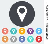 map pointer. single flat icon... | Shutterstock . vector #231005347