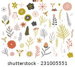 collection of vintage merry... | Shutterstock .eps vector #231005551