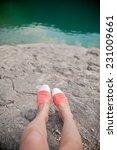 Overhead Photo Of Feet On A...