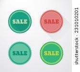 vector set of sale stickers ... | Shutterstock .eps vector #231010201