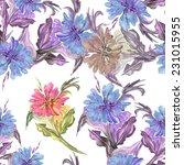 flower seamless pattern | Shutterstock . vector #231015955