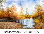 mountain stream  forest autumn...