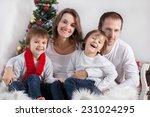 portrait of friendly family of... | Shutterstock . vector #231024295