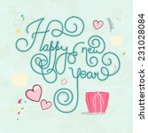 stylish happy new year text... | Shutterstock .eps vector #231028084