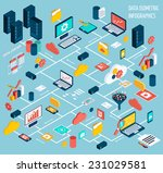 data infographic isometric set... | Shutterstock .eps vector #231029581