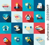 insurance security icons flat... | Shutterstock .eps vector #231030649