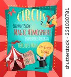 Circus Retro Poster With...
