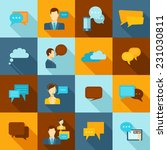 chat icons flat set with speech ... | Shutterstock .eps vector #231030811