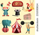 circus decorative set with tent ... | Shutterstock .eps vector #231030814