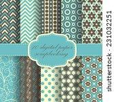 set of beautiful vector paper... | Shutterstock .eps vector #231032251