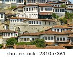 old town berati  windows in... | Shutterstock . vector #231057361