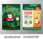 christmas sale brochure flyer... | Shutterstock .eps vector #231061945