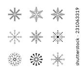 snowflake icons set | Shutterstock .eps vector #231063319