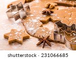 making christmas gingerbread... | Shutterstock . vector #231066685