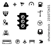 traffic silhouette icons | Shutterstock .eps vector #231072631