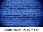 Deep Blue Brick Wall Backgroun...