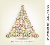 beautiful snowflake decorated x ...   Shutterstock .eps vector #231075709