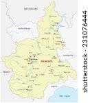 piedmont map | Shutterstock .eps vector #231076444