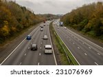 A Uk Motorway  With Limited...