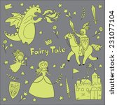 fairy tale graphic set | Shutterstock .eps vector #231077104