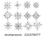 set of different hand drawn... | Shutterstock .eps vector #231078577