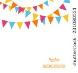 multicolored bright buntings... | Shutterstock .eps vector #231080521