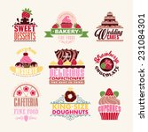 set of decoration bakery tags... | Shutterstock .eps vector #231084301