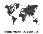 a map of the world with a... | Shutterstock . vector #231085615