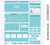flat website elements  ui kits. ...
