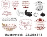 happy thanksgiving day  vector... | Shutterstock .eps vector #231086545