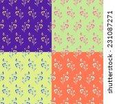 vector set of seamless... | Shutterstock .eps vector #231087271