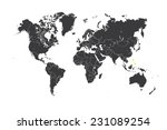 a map of the world with a... | Shutterstock . vector #231089254