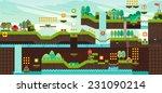 tile set platform for game ... | Shutterstock .eps vector #231090214