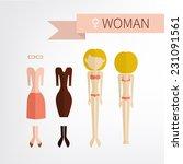female. flet style icons.... | Shutterstock .eps vector #231091561