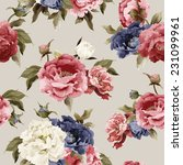 seamless floral pattern with...   Shutterstock .eps vector #231099961