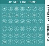 42 web line icons for business... | Shutterstock .eps vector #231101131