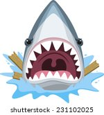 shark attack with open jaws... | Shutterstock .eps vector #231102025