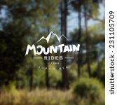 Mountain Rides Travel Label....