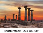 ruined athena temple in assos ... | Shutterstock . vector #231108739