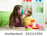 mother with her child daughter...   Shutterstock . vector #231111934