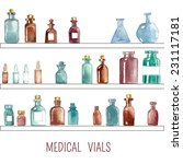 set of watercolor medical icons ... | Shutterstock .eps vector #231117181