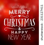 christmas typographic... | Shutterstock .eps vector #231127411
