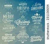 christmas typographic... | Shutterstock .eps vector #231130054
