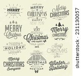 christmas typographic... | Shutterstock .eps vector #231130057