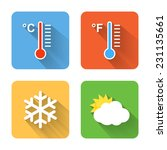 flat weather icons. vector...