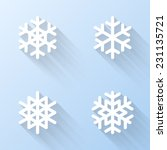 flat snowflake icons. vector...