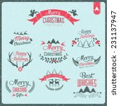 christmas decoration collection ... | Shutterstock .eps vector #231137947